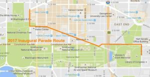 2017 Inaugural Parade Route Map