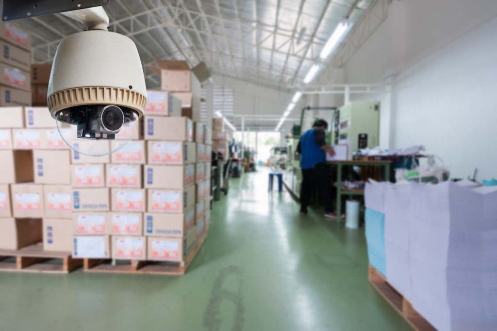 commercial security in a warehouse