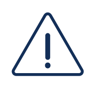 blue caution sign icon
