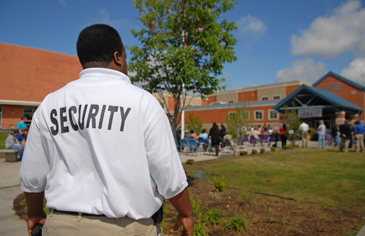 man working a private security job